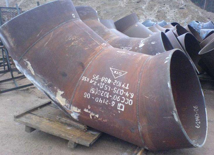 Отвод крутоизогнутый 90 гр ТУ 26-08-693-81